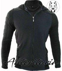 chaqueta fashion estilo slim fit autoritaria para hombre-negra