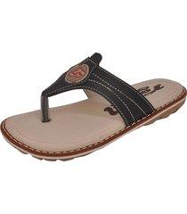 sandália infantil raniel calçados papete chinelo dedo com costura preto