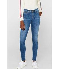 jeans elásticos de tejido oscuro denim esprit