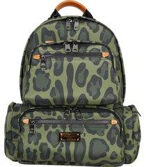 dolce & gabbana nylon backpack with leo print