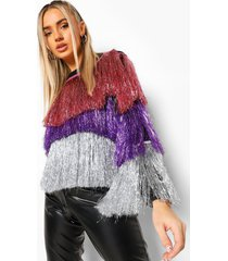 ombre slinger trui, purple