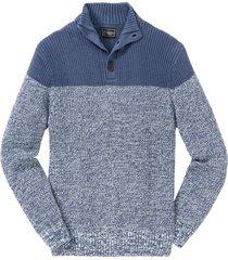 pullover con bottoni allo scollo (blu) - bpc selection
