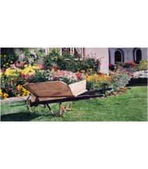 "david lloyd glover the gardeners wheelbarrow canvas art - 37"" x 49"""