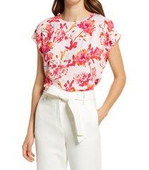 women's halogen cap sleeve blouse, size xx-large - pink