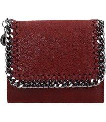 stella mccartney falabella wallet in bordeaux faux leather