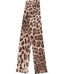 dolce & gabbana leopard neck tie - neutrals
