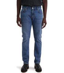 men's amendi lars slim tapered leg jeans, size 33 x 32 - blue