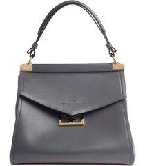givenchy medium mystic leather satchel - grey
