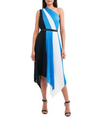 bcbgmaxazria one-shoulder pleated dress
