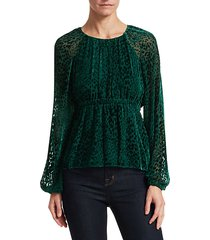 karen velvet burnout blouse
