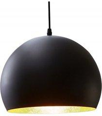 lampa wisząca glow czarna złota metal 30cm