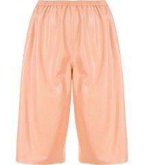 lapointe faux leather shorts - orange
