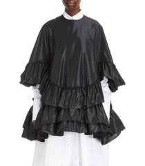 women's simone rocha tiered ruffle taffeta top