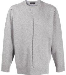 falke boat neck slim-fit sweater - grey