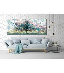 obraz na płotnie pejzaż, origami, drzewo- 150x60