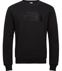 m drew peak crew sweat-shirt tröja svart the north face