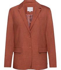 suit jacket w. button details at cu blazer kavaj röd coster copenhagen