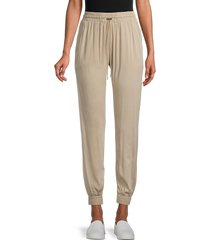 rd style women's tapered sweatpants - tan - size l