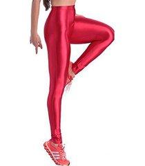 badassleggings women's shiny disco pants xl red
