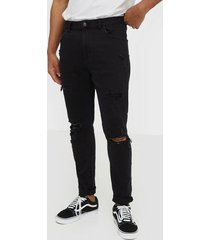 abrand jeans a dropped slim turn up jeans svart