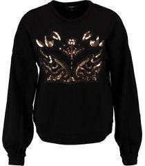 vero moda zwarte sweater met pailletten