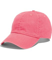 women's madewell faded neon canvas baseball cap - pink