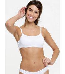 sutiã feminino modelo top liso com bojo marisa