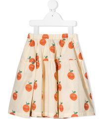 the animals observatory all-over orange print skirt - yellow
