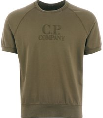 light fleece crew neck t-shirt - olive 06cmss251a002246g