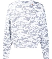 off-white all-over arrow print sweatshirt - grey