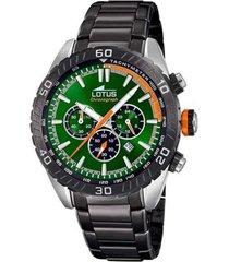 reloj chrono verde lotus