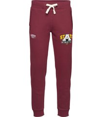 collegiate state jogger sweatpants mjukisbyxor röd superdry