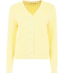 alessandra rich cable knit cardigan