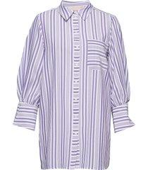 salamancakb shirt overhemd met lange mouwen paars karen by simonsen