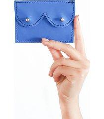 mini portfel niebieski metalic
