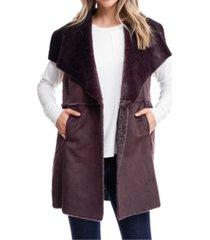 fever faux fur vest