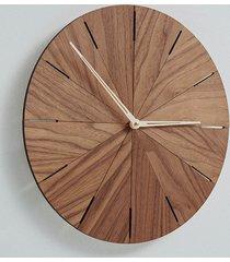 drewniany zegar średnica 40 lub 50 cm, orzech