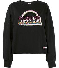 giamba sequin-embellished sweatshirt - black