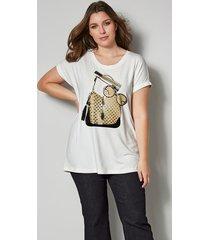shirt sara lindholm ecru::goudkleur