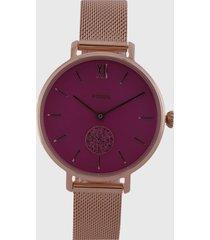 reloj oro rosa-fucsia fossil