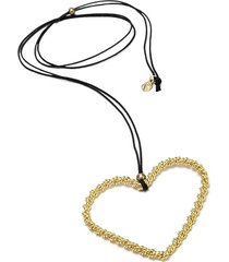 collar de mujer dorado cuore intrecciato brass colection by vestopazzo
