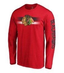 majestic chicago blackhawks men's halftone long sleeve t-shirt