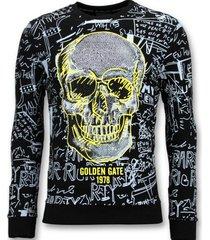 enos sweater met print skull crewneck