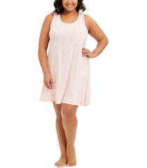 alfani plus size tank chemise nightgown, created for macy's