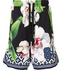 dolce & gabbana orchid bermuda shorts - multicolour