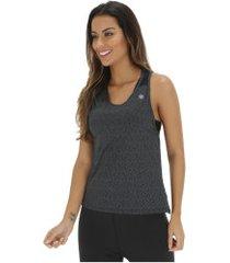camiseta regata asics workout tank - feminina - preto mescla