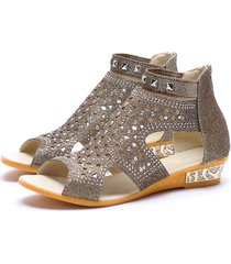 coffee peep toe jewelled detail sandals