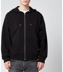 kenzo men's classic tiger full zip hoodie - black - xl