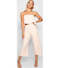 bandeau top & culottes co-ord set, blush