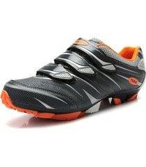 zapatillas ciclismo tiebao negro/gris mtb